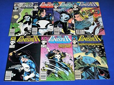 Lot of 7 THE PUNISHER Issues #3 - 9 [Marvel 1987] VF/NM or Better