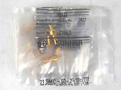 Lot of 10 Suhner 21SMC-50-2-10c/111