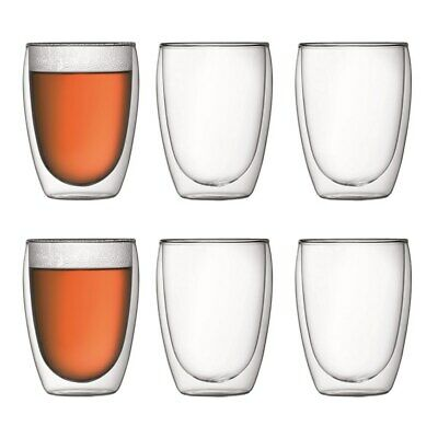 New Bodum Pavina Double Wall Glass 350ml Set of 6
