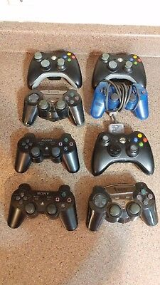 Lot of 8 Various Video Game Controllers (For Parts or Repair!)