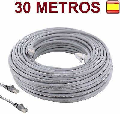 Cable de red internet 30 metros RJ45 CAT 5E UTP ethernet  pc router