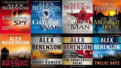 "Lot of 8 ""John Wells"" Series by Alex Berenson Paperbacks"
