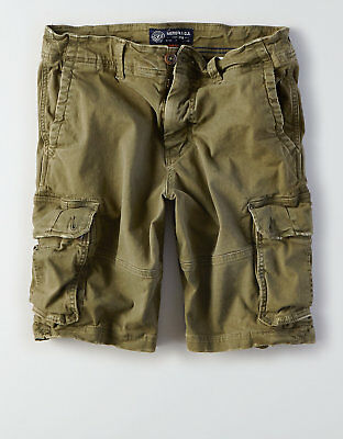 American Eagle Mens Classic Length Extreme Flex Cargo Shorts - Green Sizes 40-48