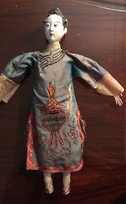 Antique Chinese opera female doll