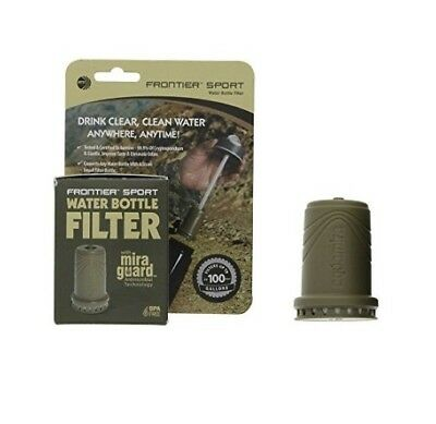 Aquamira 44165 Frontier Sport 100G Tactical Antimicrobial Water Bottle Filter