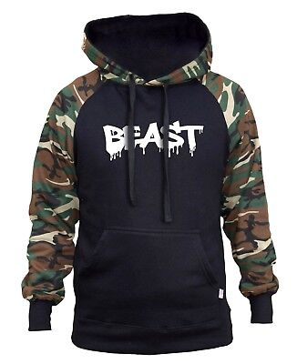 Men/'s Beast Dripping Sleeveless Zipper Hoodie Workout Fitness Athletic Gym V169
