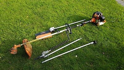52cc Multi-Function Garden Petrol Strimmer, Hedge Cutter & Chainsaw