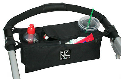 Stroller Organizer keys holder storage bag BLACK cup holder baby bottle bugaboo