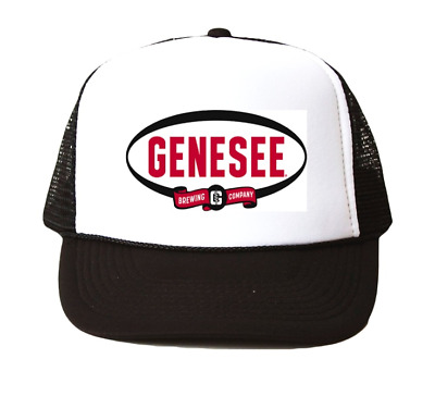 Vintage Genesee Beer hat Trucker Hat mesh hat black new