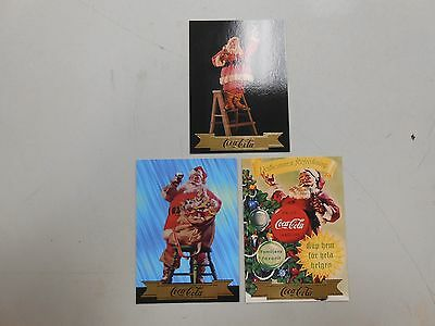 1994 Coca-Cola series 3 Santa insert card lot! S25, S28 and S29! NM/MN! LOOK!