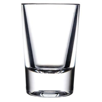 Commercial 1 oz. Polycarbonate Shot Glass Clear with Heavy Base Pack of 24