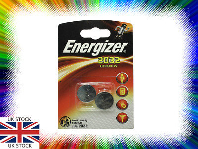 2 x Energizer CR2032 BR2032, SB-T15 3V Lithium Coin Cell Battery NEW
