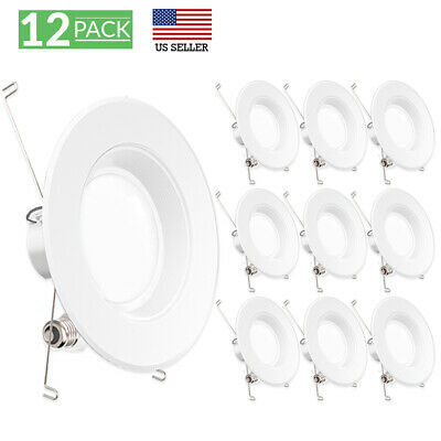 Sunco 12Pack 6-Inch Retrofit Recessed 13W Lumen 5000K Light Dimmable Bf+D