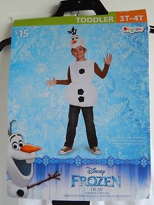 Disney Kids FROZEN Halloween 2-piece Costume OLAF, Children Size: Toddler 3T-4T