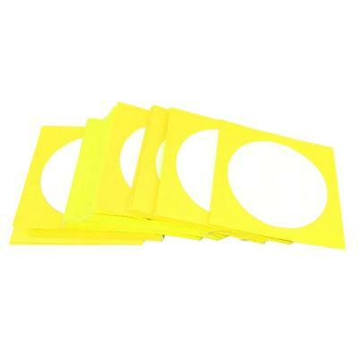 100X CD/DVD Yellow Paper Sleeve Plastic Clear Window with Flap Envelopes