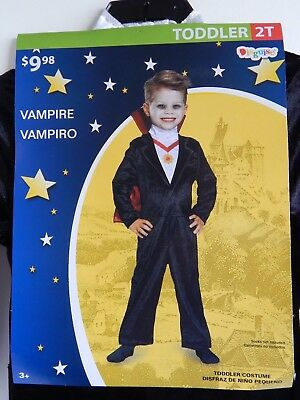 Halloween 2-piece Costume VAMPIRE, Children Size: Toddler 2T