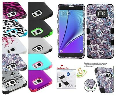 Samsung GALAXY S8 / PLUS Impact HYBRID Shockproof Armor Rubber Rugged Case Cover
