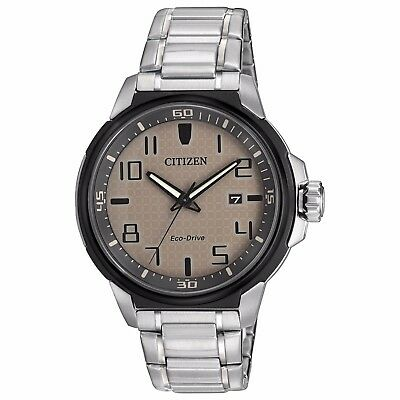 Citizen Eco-Drive AR Men's AW1461-58H Silver-Tone Bracelet 43mm Watch