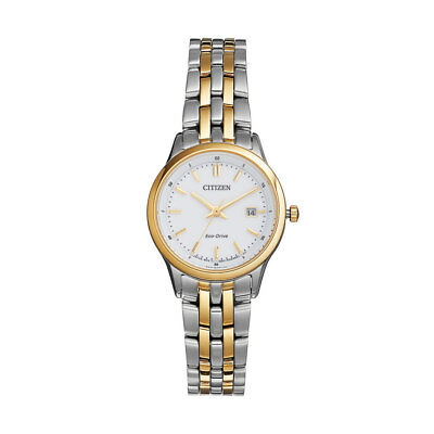 Citizen Eco-Drive Women's EW2404-57A Rose Gold Tone Accents Bracelet 28mm Watch