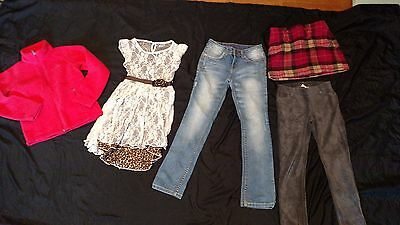 girls size 8 Mixed Lot used Justice, Gap kids, Columbia,  FALL Holiday Wear