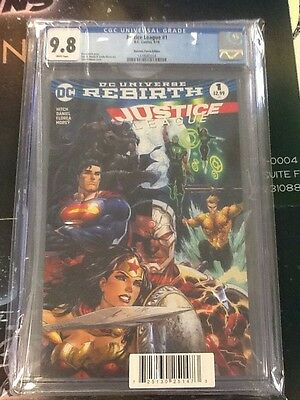 Justice league #1 rebirth Dynamic Forces Exclusive variant cgc 9.8 Tyler Kirkham