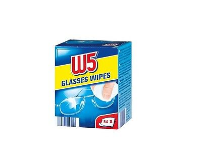 W5 Wet Glasses Wipes Cleans 54pcs