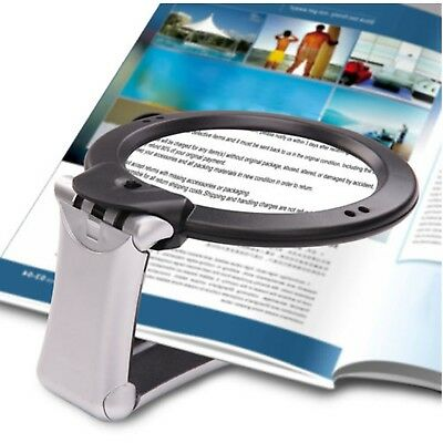 6X Large Magnifying Glass With Light LED LAMP Magnifier Hands Free CA Stock