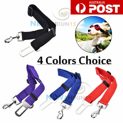 Adjustable Pet Dog Safety Car Vehicle Seat Belt Harness Lead Seatbelt 4 Colors