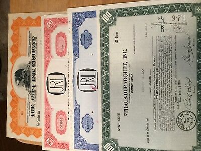 5 Assorted Stock Certificates, All Issued #11