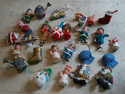 Lot of 23 Fun Christmas Tree Ornaments Vintage Holiday Decorations