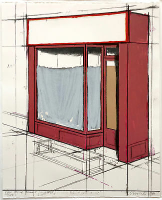 Christo 1980 Store Front Pop Mixed Media Collage S/N Pristine Ltd Ed of 100
