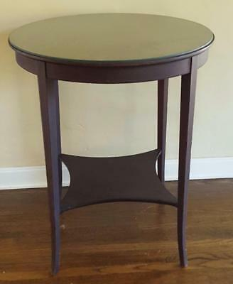 Gorgeous Antique 1930's Side Table - WONDERFUL GLASS TOP - VGC - NICE SIZE