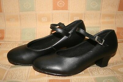 Theatricals Baby Louis Character Dance Shoes Black - Girls Youth Kid Sz 2 2.5