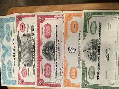 Assorted Stock Certificates, All Issued #15