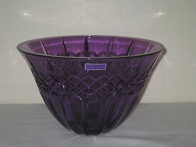 """Marquis by Waterford Shelton Amethyst Crystalline Bowl 8"""""""