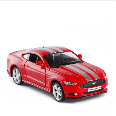 """Ford Mustang GT 2015 Model Cars 1:36 5"""" Toy Red&white stripe Gifts Alloy Diecast"""