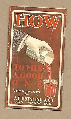Old Kirk Whisky How to Mix a Good One Cocktail Recipe Booklet A.P. Hotaling & Co