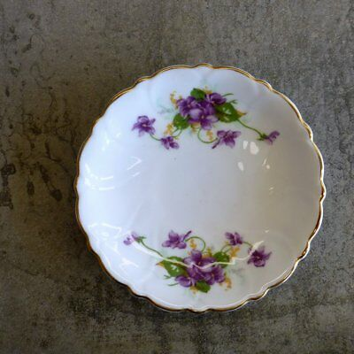 Vintage Adderley Violets Pin Dish Bone China Made in England Purple English