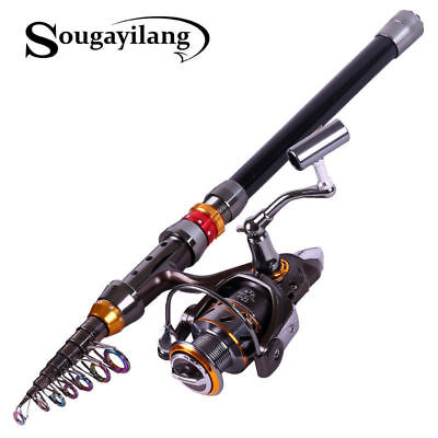 Portable Telescopic Fishing Rod & 13BB Reel Combos Sea Spinning Travel Fishing