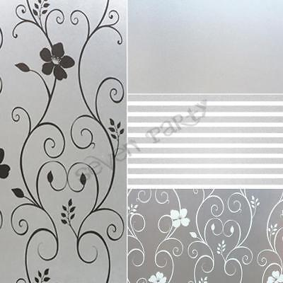 200x60 Bedroom Bathroom Home Glass Window Door Privacy Film Sticker PVC Frosted