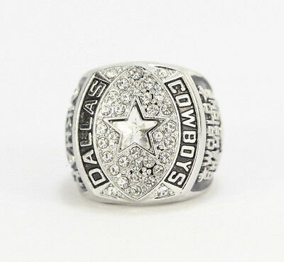Silver 1992 DALLAS COWBOYS World Championship Ring US size 10-11 only ring