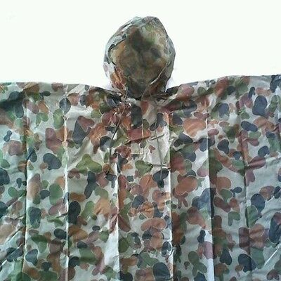 Tas Auscam Poncho Military 200X127Cm Pu Coated And Taped Seams Waterproof