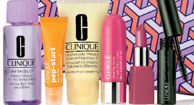 New Clinique set of skincare and makeup travel sizes