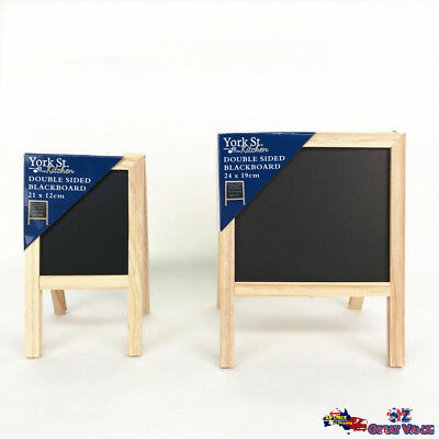 Standing Wooden Double Sided Blackboard Chalk Board Notice Board 2 Sizes Choose