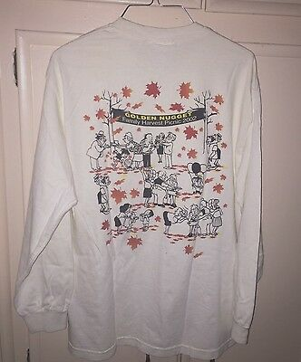 Golden Nugget Casino,  Laughlin Long Sleeve T Shirt,  Family Harvest, Size  L