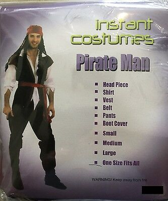 Mens Adult Pirate Costume Buccaneer Fancy Party Dress