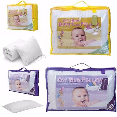 Cot Bed Duvet/Quilt Pillow 4.5 7 9 Tog Baby Toddler Anti Allergy Nursery Bedding