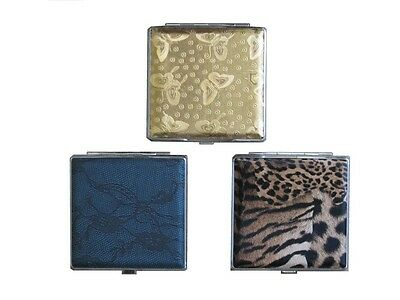 SPECIAL! 3 x Premium and Fashionable Cigarette Case -Gold, Blue and Leopard