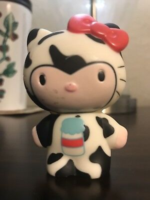 Sanrio Hello Kitty Cow Collectible Key Ring Vinyl Figure Blind Box Urban Rare!