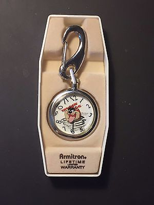 Tazmanian Devil Pocket Watch w/Belt Loop Clasp Lock
